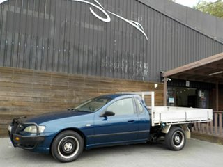 2003 Ford Falcon BA XL Super Cab Blue 4 Speed Automatic Cab Chassis