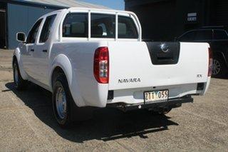 2013 Nissan Navara D40 MY13 RX (4x2) White 6 Speed Manual Dual Cab Pick-up