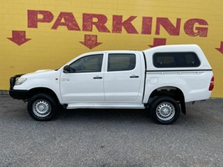 2014 Toyota Hilux KUN26R MY14 SR Double Cab White 5 Speed Manual Utility