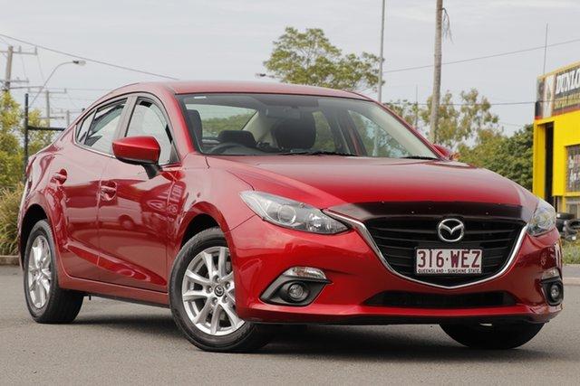 Used Mazda 3 BM5276 Maxx SKYACTIV-MT Rocklea, 2015 Mazda 3 BM5276 Maxx SKYACTIV-MT Velocity Red 6 Speed Manual Sedan