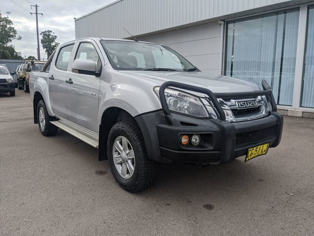 Pre-Owned Isuzu D-MAX MY15 LS-M Crew Cab Cardiff, 2015 Isuzu D-MAX MY15 LS-M Crew Cab Silver 5 Speed Sports Automatic Utility