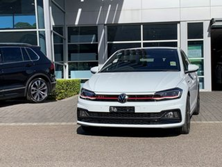 2020 Volkswagen Polo AW MY21 GTI DSG White 6 Speed Sports Automatic Dual Clutch Hatchback.