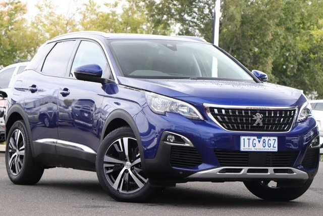 Used Peugeot 3008 P84 MY20 Allure SUV Essendon Fields, 2019 Peugeot 3008 P84 MY20 Allure SUV Blue 6 Speed Sports Automatic Hatchback