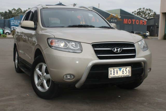 Used Hyundai Santa Fe CM MY08 Upgrade SLX CRDi (4x4) West Footscray, 2008 Hyundai Santa Fe CM MY08 Upgrade SLX CRDi (4x4) Gold 5 Speed Automatic Wagon