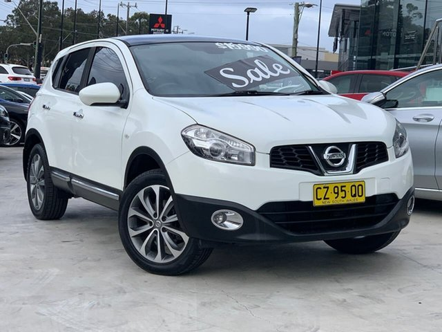 Used Nissan Dualis J10 Series II MY2010 Ti Hatch X-tronic Liverpool, 2011 Nissan Dualis J10 Series II MY2010 Ti Hatch X-tronic White 6 Speed Constant Variable Hatchback