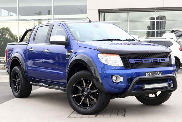 Used Ford Ranger PX XLT Double Cab Liverpool, 2015 Ford Ranger PX XLT Double Cab Blue 6 Speed Sports Automatic Utility