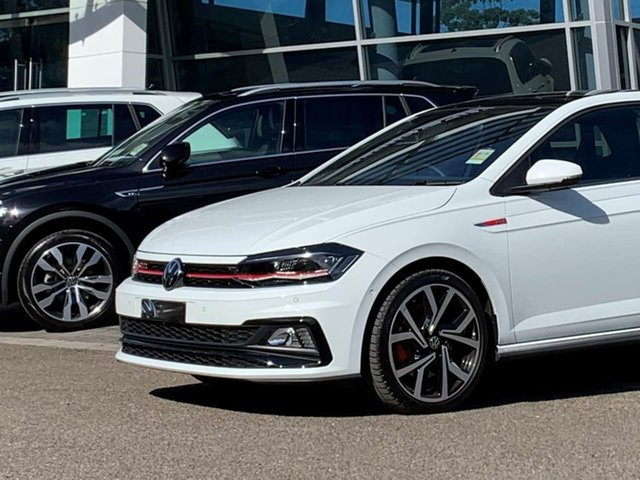 Demo Volkswagen Polo AW MY21 GTI DSG Botany, 2020 Volkswagen Polo AW MY21 GTI DSG White 6 Speed Sports Automatic Dual Clutch Hatchback