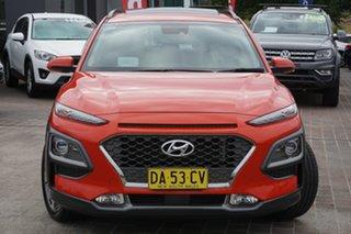2018 Hyundai Kona OS MY18 Highlander D-CT AWD Orange 7 Speed Sports Automatic Dual Clutch Wagon.