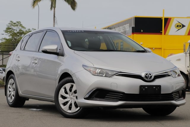 Used Toyota Corolla ZRE182R Ascent S-CVT Rocklea, 2016 Toyota Corolla ZRE182R Ascent S-CVT Silver Pearl 7 Speed Constant Variable Hatchback
