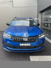 2020 Skoda Karoq NU MY20.5 140TSI DSG AWD Sportline Blue 7 Speed Sports Automatic Dual Clutch Wagon.