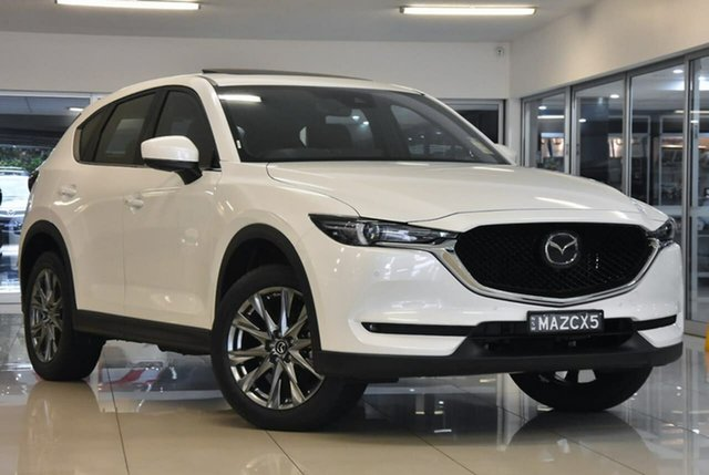 Demo Mazda CX-5 KF4WLA Akera SKYACTIV-Drive i-ACTIV AWD Waitara, 2021 Mazda CX-5 KF4WLA Akera SKYACTIV-Drive i-ACTIV AWD White 6 Speed Sports Automatic Wagon