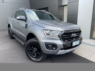 2019 Ford Ranger PX MkIII 2019.00MY Wildtrak Silver 10 Speed Sports Automatic Double Cab Pick Up.