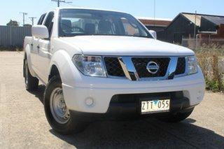 2013 Nissan Navara D40 MY13 RX (4x2) White 6 Speed Manual Dual Cab Pick-up.