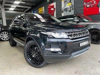 2012 Land Rover Range Rover Evoque L538 Prestige Black Sports Automatic Wagon.