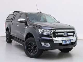 2017 Ford Ranger PX MkII MY17 XLT 3.2 (4x4) Black 6 Speed Automatic Double Cab Pick Up.
