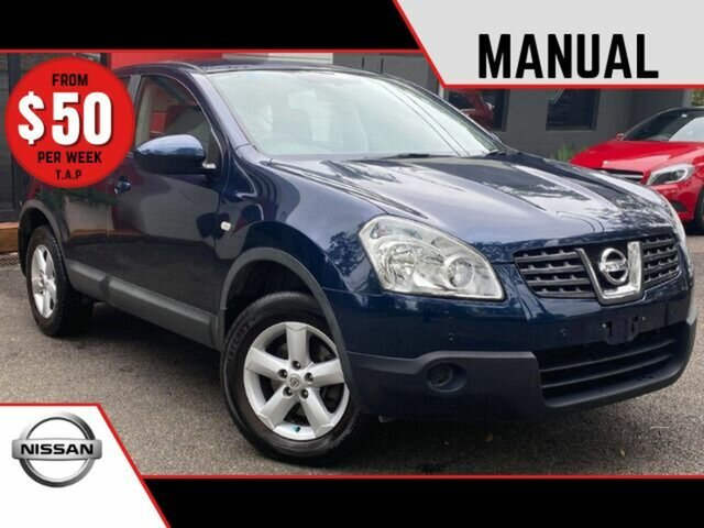 Used Nissan Dualis J10 MY2009 ST Hatch Ashmore, 2009 Nissan Dualis J10 MY2009 ST Hatch Metallic Blue 6 Speed Manual Hatchback