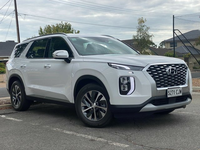 Demo Hyundai Palisade LX2.V1 MY21 AWD Nailsworth, 2020 Hyundai Palisade LX2.V1 MY21 AWD White Cream 8 Speed Sports Automatic Wagon