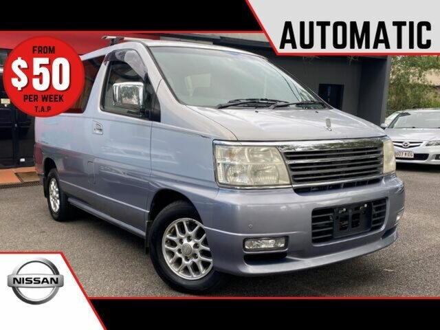 Used Nissan Elgrand ALWE50 Highway Star Ashmore, 2000 Nissan Elgrand ALWE50 Highway Star Metallic Silver 4 Speed Automatic Wagon