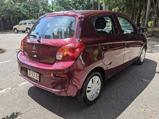 2017 Mitsubishi Mirage LA MY17 ES Maroon 1 Speed Constant Variable Hatchback.