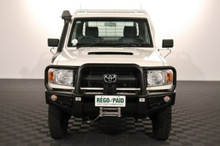 2016 Toyota Landcruiser VDJ79R Workmate French Vanilla 5 speed Manual Cab Chassis.