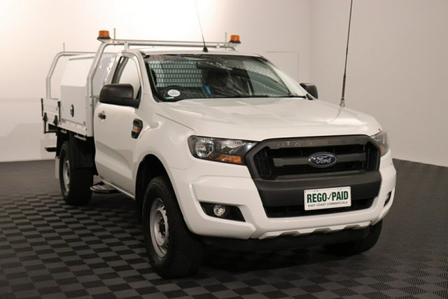 Used Ford Ranger PX MkII XL Hi-Rider Acacia Ridge, 2016 Ford Ranger PX MkII XL Hi-Rider White 6 speed Automatic Cab Chassis