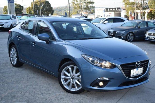 Used Mazda 3 BM5238 SP25 SKYACTIV-Drive Ferntree Gully, 2014 Mazda 3 BM5238 SP25 SKYACTIV-Drive Blue 6 Speed Sports Automatic Sedan