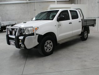 2009 Toyota Hilux KUN26R MY09 SR White 5 speed Manual Cab Chassis