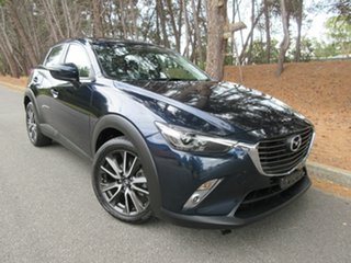 2016 Mazda CX-3 DK2W7A sTouring SKYACTIV-Drive Deep Crystal Blue 6 Speed Sports Automatic Wagon.