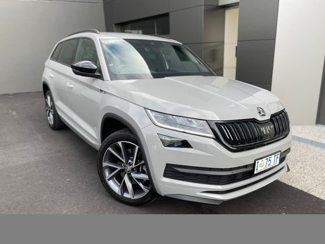 Used Skoda Kodiaq NS MY19 132TSI DSG Sportline Hobart, 2019 Skoda Kodiaq NS MY19 132TSI DSG Sportline Grey 7 Speed Sports Automatic Dual Clutch Wagon