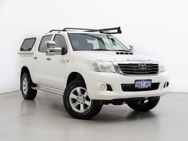 Used Toyota Hilux KUN26R MY12 SR (4x4), 2012 Toyota Hilux KUN26R MY12 SR (4x4) White 5 Speed Manual Dual Cab Pick-up