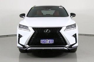 2018 Lexus RX350 GGL25R MY18 F-Sport White 8 Speed Automatic Wagon.