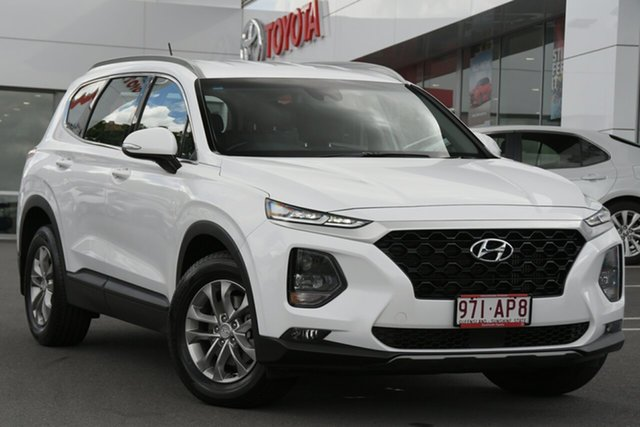 Pre-Owned Hyundai Santa Fe TM MY19 Active Woolloongabba, 2018 Hyundai Santa Fe TM MY19 Active Pearl White 8 Speed Sports Automatic Wagon