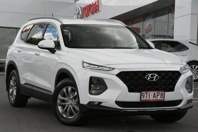 Pre-Owned Hyundai Santa Fe TM MY19 Active Woolloongabba, 2018 Hyundai Santa Fe TM MY19 Active Pearl White 8 Speed Sports Automatic Wagon