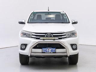 2017 Toyota Hilux GUN126R MY17 SR5 (4x4) White 6 Speed Automatic Dual Cab Utility.