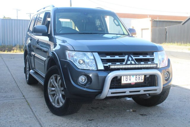 Used Mitsubishi Pajero NW MY14 VR-X LWB (4x4) West Footscray, 2014 Mitsubishi Pajero NW MY14 VR-X LWB (4x4) Grey 5 Speed Auto Sports Mode Wagon