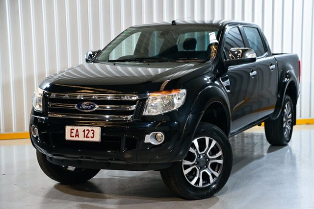 Used Ford Ranger PX XLT Double Cab Hendra, 2015 Ford Ranger PX XLT Double Cab Black/Grey 6 Speed Sports Automatic Utility
