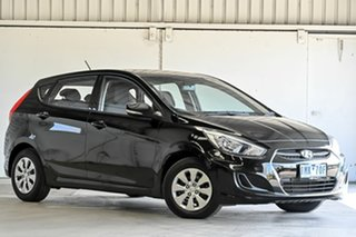 2015 Hyundai Accent RB3 MY16 Active Black 6 Speed Constant Variable Hatchback.