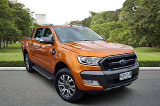 2017 Ford Ranger PX MkII 2018.00MY Wildtrak Double Cab Orange 6 Speed Sports Automatic Utility.