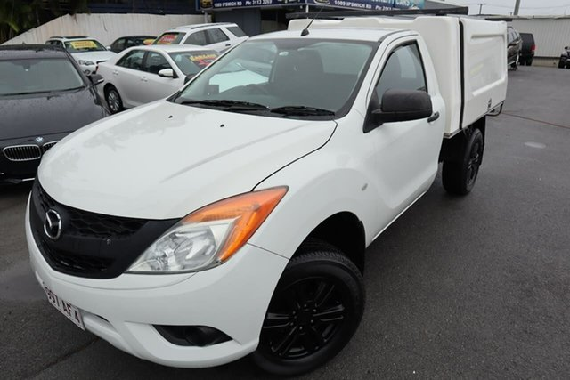 Used Mazda BT-50 UP0YD1 XT 4x2 Hi-Rider Moorooka, 2015 Mazda BT-50 UP0YD1 XT 4x2 Hi-Rider White 6 Speed Sports Automatic Cab Chassis