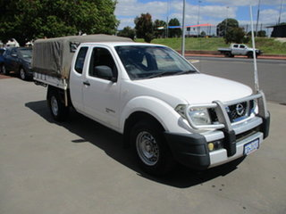 2012 Nissan Navara D40 RX White 5 Speed Automatic Spacecab.
