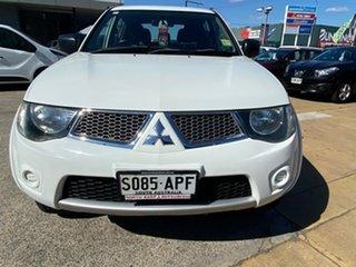 2012 Mitsubishi Triton MN MY12 GL-R Double Cab 4x2 White 4 Speed Automatic Utility
