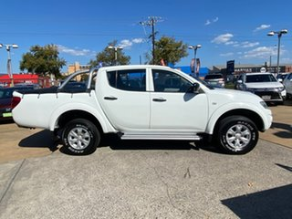 2012 Mitsubishi Triton MN MY12 GL-R Double Cab 4x2 White 4 Speed Automatic Utility.