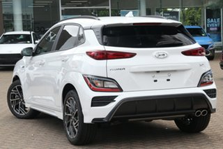2020 Hyundai Kona Os.v4 MY21 N-Line D-CT AWD Surfy Blue 7 Speed Sports Automatic Dual Clutch Wagon.