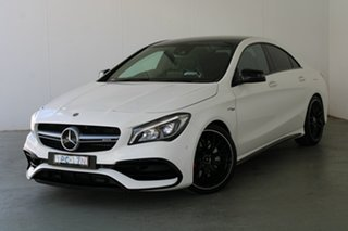 2017 Mercedes-Benz CLA-Class C117 808+058MY CLA45 AMG SPEEDSHIFT DCT 4MATIC White 7 Speed.