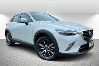 2016 Mazda CX-3 DK4W7A sTouring SKYACTIV-Drive i-ACTIV AWD White 6 Speed Sports Automatic Wagon.
