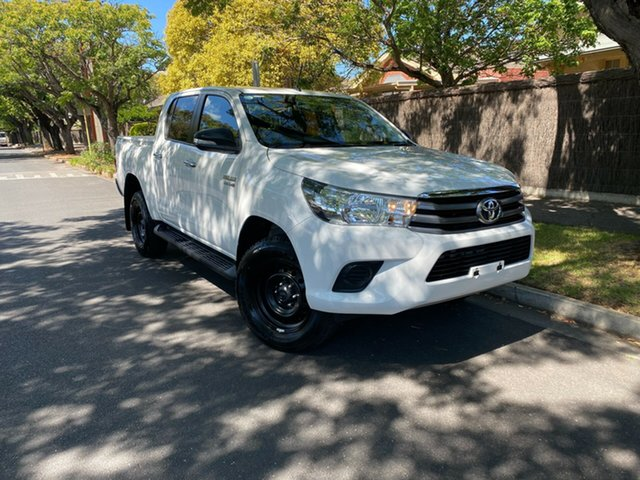 Pre-Owned Toyota Hilux GUN136R SR Double Cab 4x2 Hi-Rider Hawthorn, 2015 Toyota Hilux GUN136R SR Double Cab 4x2 Hi-Rider White 6 Speed Sports Automatic Utility
