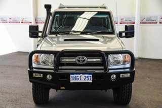 2015 Toyota Landcruiser VDJ79R GXL Double Cab Silver Pearl 5 Speed Manual Cab Chassis