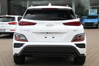 2021 Hyundai Kona Os.v4 MY21 N-Line D-CT AWD Atlas White 7 Speed Sports Automatic Dual Clutch Wagon