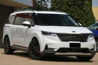 2021 Kia Carnival KA4 MY21 Platinum Snow White Pearl 8 Speed Sports Automatic Wagon.