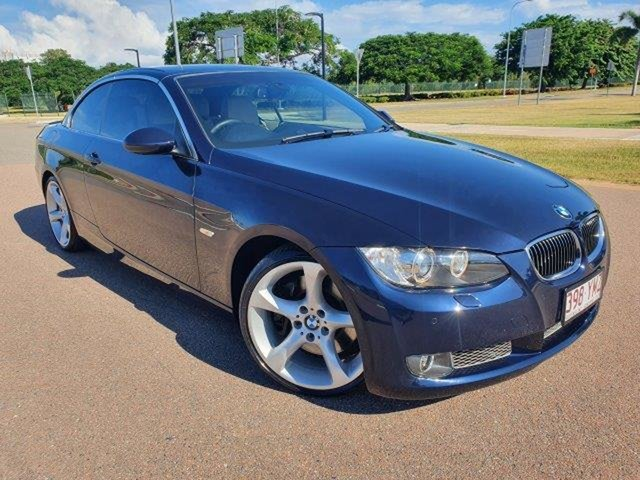 Used BMW 3 Series E93 MY09.5 335i D-CT Townsville, 2009 BMW 3 Series E93 MY09.5 335i D-CT Monacoblu 7 Speed Sports Automatic Dual Clutch Convertible